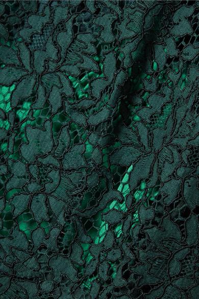 Dolce & Gabbana Midikleid aus schnurgebundener Spitze aus einer Baumwollmischung