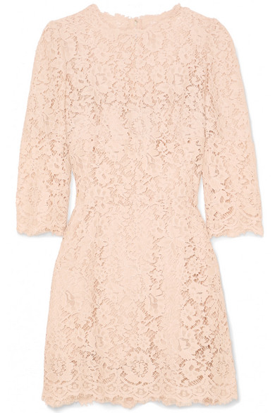 e14ac952328a3 Dolce & Gabbana | Crystal-embellished corded lace mini dress | NET-A ...