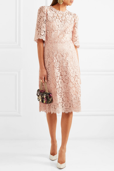 Dolce & Gabbana Midikleid aus schnurgebundener Spitze