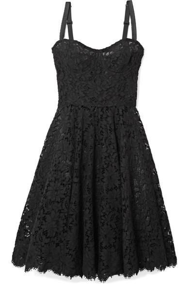 Dolce & Gabbana Kleid aus schnurgebundener Spitze aus einer Baumwollmischung