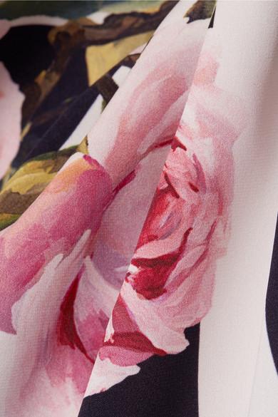 Dolce & Gabbana Bedrucktes Midikleid aus einer Seidenmischung