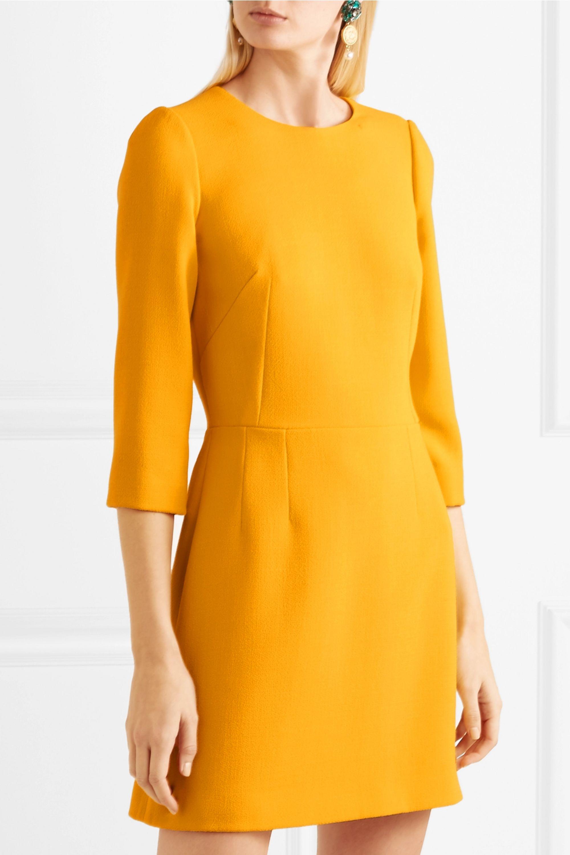 Dolce & Gabbana Wool-crepe mini dress