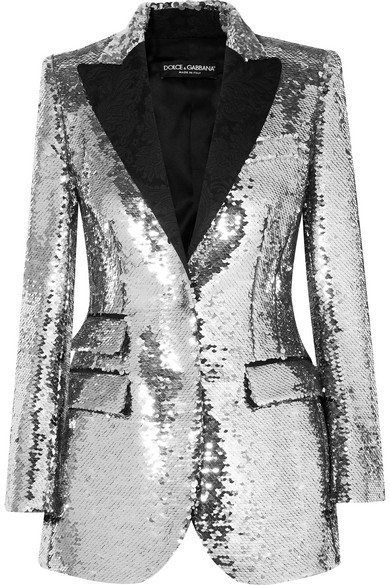 Dolce & Gabbana Paillettenbesetzter Blazer aus Crêpe