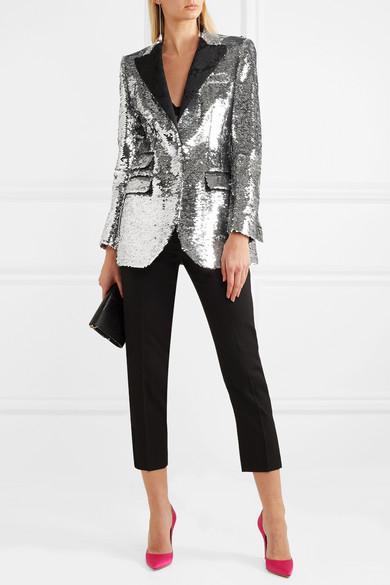 Dolce & Gabbana Paillettenbesetzter Blazer aus Crêpe Billig 2018 Billig Verkauf Bestes Geschäft Zu Bekommen Outlet Shop Angebot Erkunden vSBITi