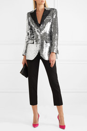 Dolce & Gabbana Sequined crepe blazer