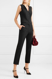 Dolce & Gabbana Stretch wool and silk-blend crepe vest