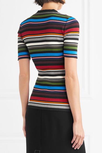 Dolce & Gabbana Gestreifer Pullover aus einer gerippten Baumwollmischung