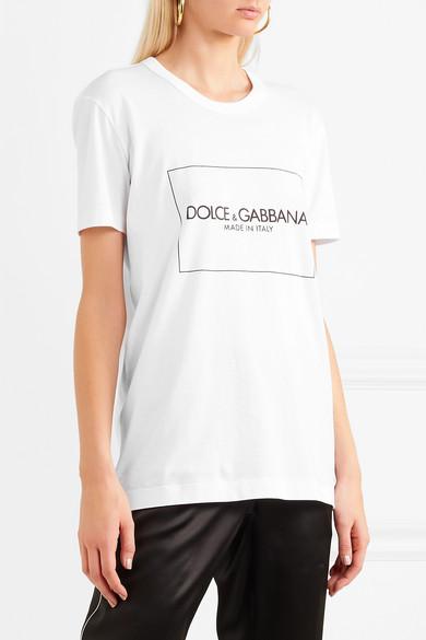 Sie Günstig Online Qualität Spielraum Offizielle Seite Dolce & Gabbana Bedrucktes T-Shirt aus Baumwoll-Jersey Verkauf Authentisch B9A1JA