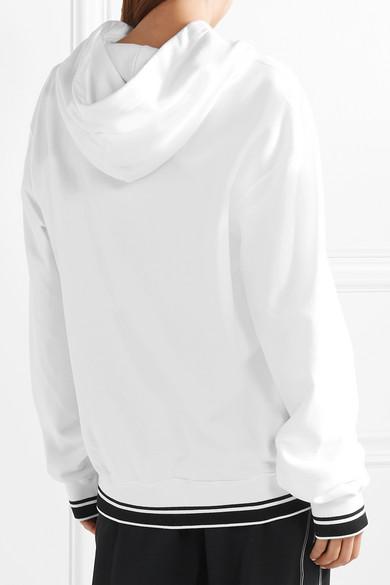 Dolce & Gabbana Oversized-Kapuzenoberteil aus bedrucktem Jersey aus einer Baumwollmischung