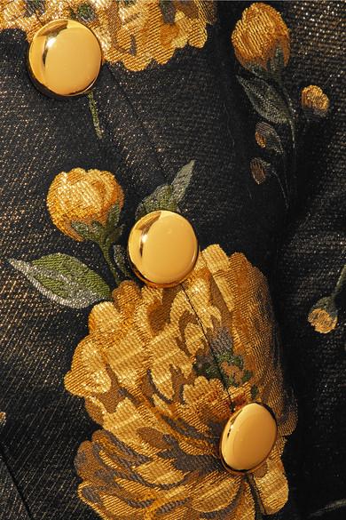 Dolce & Gabbana Verziertes Oberteil aus Brokat mit Schößchen und Applikation