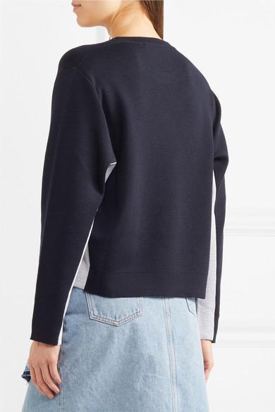 Golden Goose Deluxe Brand Pullover aus einer Wollmischung mit Einsätzen aus Jacquard-Strick mit Metallic-Effekt