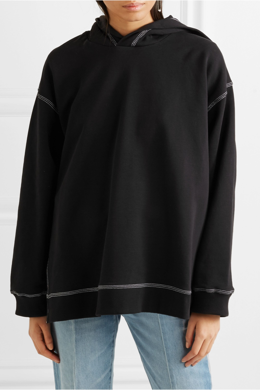 MM6 Maison Margiela Oversized cotton-jersey hooded top