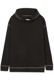 Oversized cotton-jersey hooded top