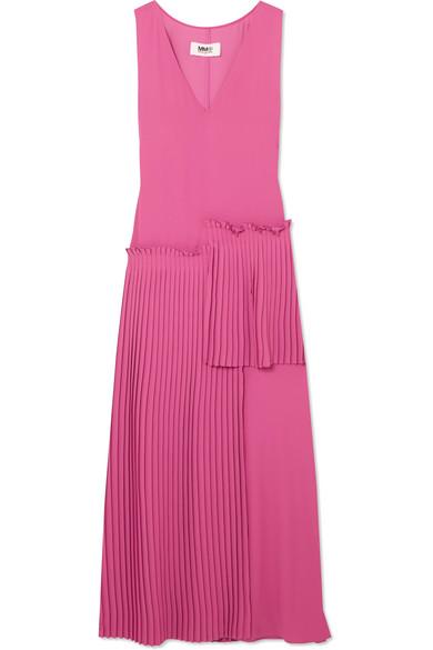 MM6 Maison Margiela Kleid aus Crêpe mit Plissee