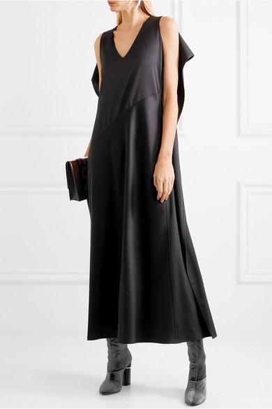 MM6 Maison Margiela Drapierte Robe aus Twill