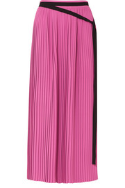 Pleated crepe maxi skirt