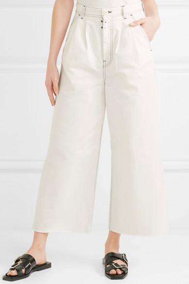 MM6 Maison Margiela Hoch sitzende Jeans mit weitem Bein