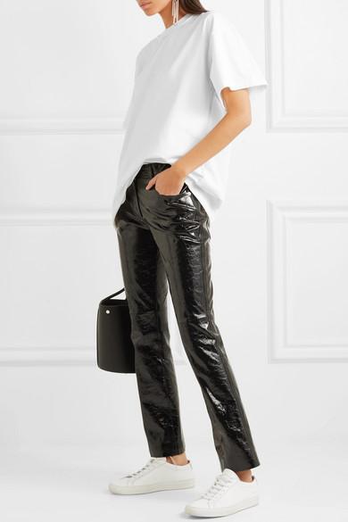 MM6 Maison Margiela Bedrucktes T-Shirt aus Baumwoll-Jersey in Oversized-Passform