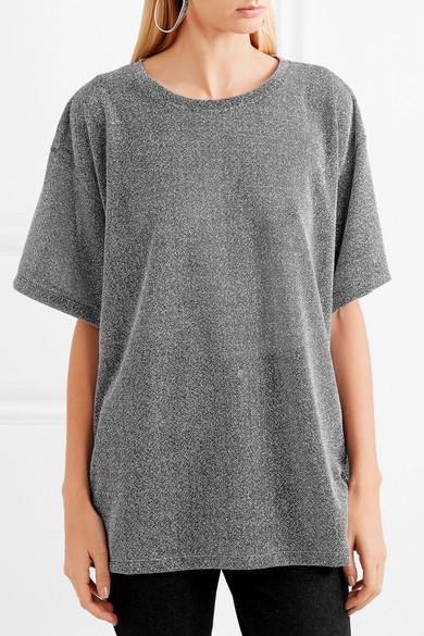 MM6 Maison Margiela Gestricktes T-Shirt in Metallic-Optik