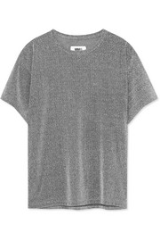 Metallic knitted T-shirt