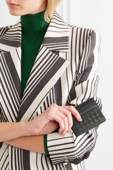 Bottega Veneta Kartenetui aus Intrecciato-Leder