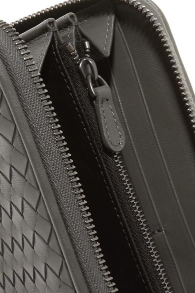 Bottega Veneta Portemonnaie im europäischen Stil aus Intrecciato-Leder
