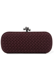 Bottega Veneta The Knot Clutch aus Intrecciato-Ripsband