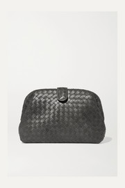 Lauren metallic intrecciato leather clutch
