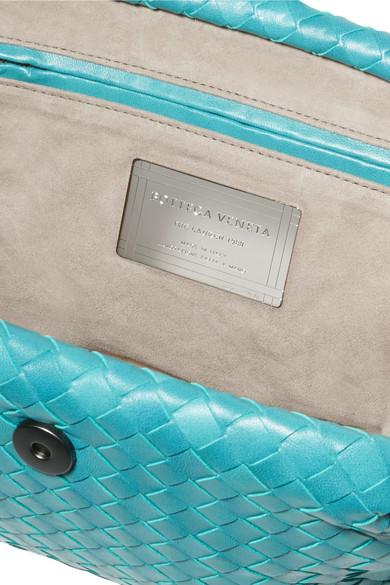 Bottega Veneta Lauren Clutch aus Intrecciato-Leder