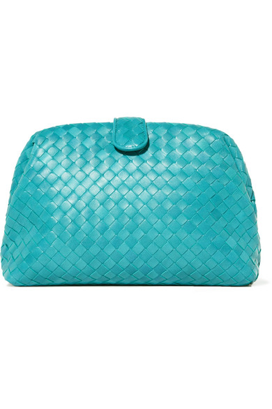 Bottega Veneta - Lauren Intrecciato Leather Clutch - Turquoise