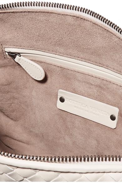 Bottega Veneta Nodini kleine Schultertasche aus Intrecciato-Leder
