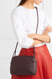 Nodini small intrecciato leather shoulder bag