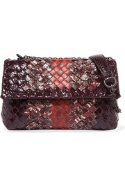 Olimpia baby intrecciato watersnake shoulder bag