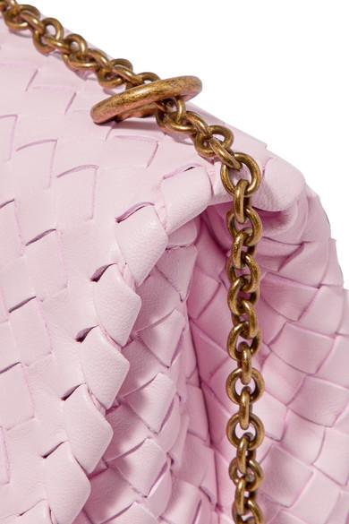 Bottega Veneta Olimpia kleine Schultertasche aus Intrecciato-Leder