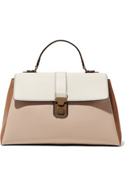 Piazza color-block leather tote