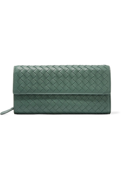 Bottega Veneta - Intrecciato Leather Continental Wallet - Emerald