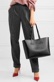 T textured-leather tote