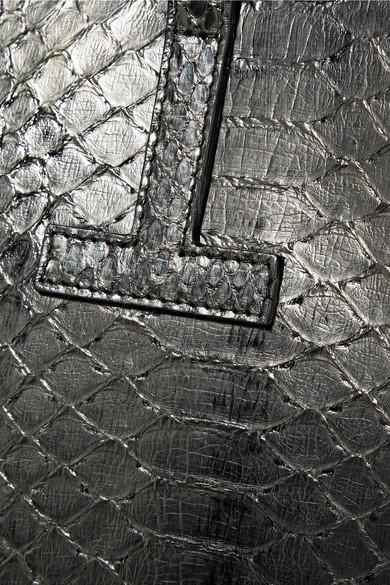 TOM FORD T kleine Tote aus Pythonleder mit Metallic-Effekt Auslass Für Schön W3rij
