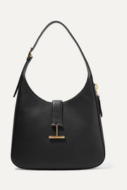 Tara textured-leather shoulder bag