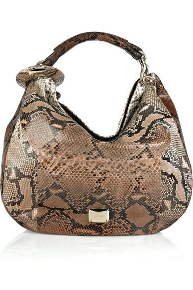 f4048394d8d Sky Large python hobo bag