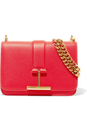 TOM FORD Tara textured-leather shoulder bag