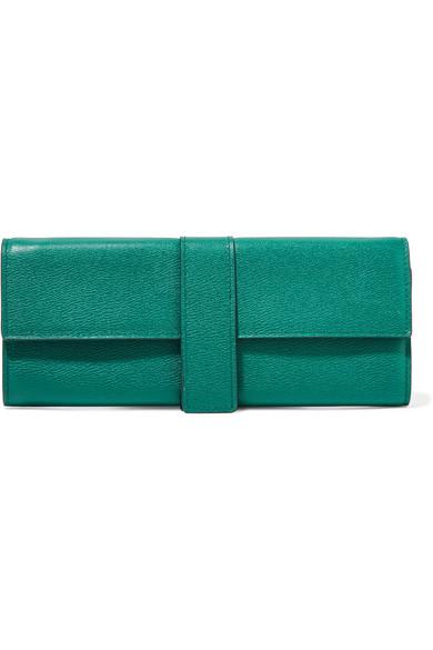 Smythson - Grosvenor Textured-leather Jewelry Case - Emerald