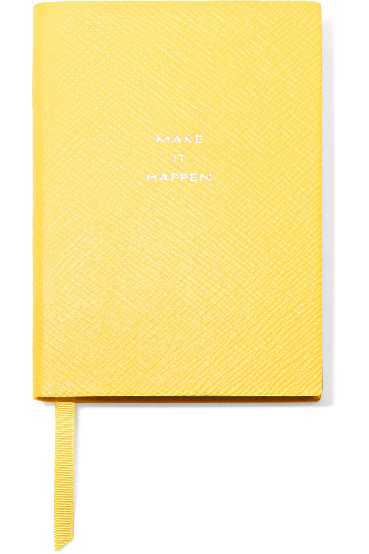 Smythson Panama Make It Happen Notizbuch aus strukturiertem Leder