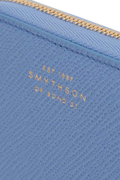 Smythson Panama Portemonnaie aus strukturiertem Leder