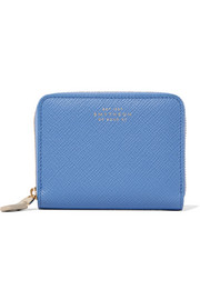 Smythson Panama textured-leather wallet