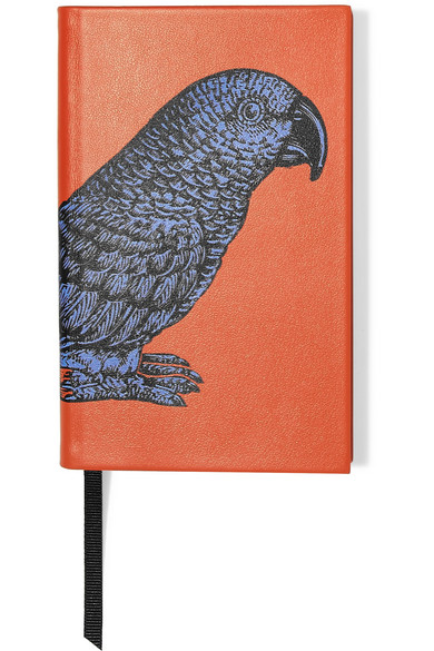 Smythson - Printed Textured-leather Notebook - Orange