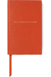 Panama It's A Jungle Out There textured-leather notebook