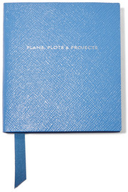 Premier Plans, Plots & Projects textured-leather notebook