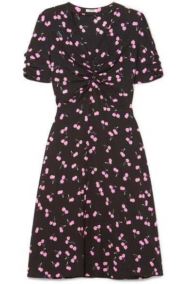 Miu Miu Bedrucktes Kleid aus Crêpe