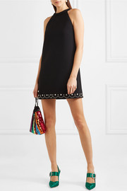 Miu Miu Embellished cady mini dress